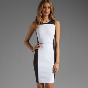 Theory sleeveless color block dress